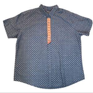 NWT Eddie Bauer XXL Gray Blue SL Casual Shirt